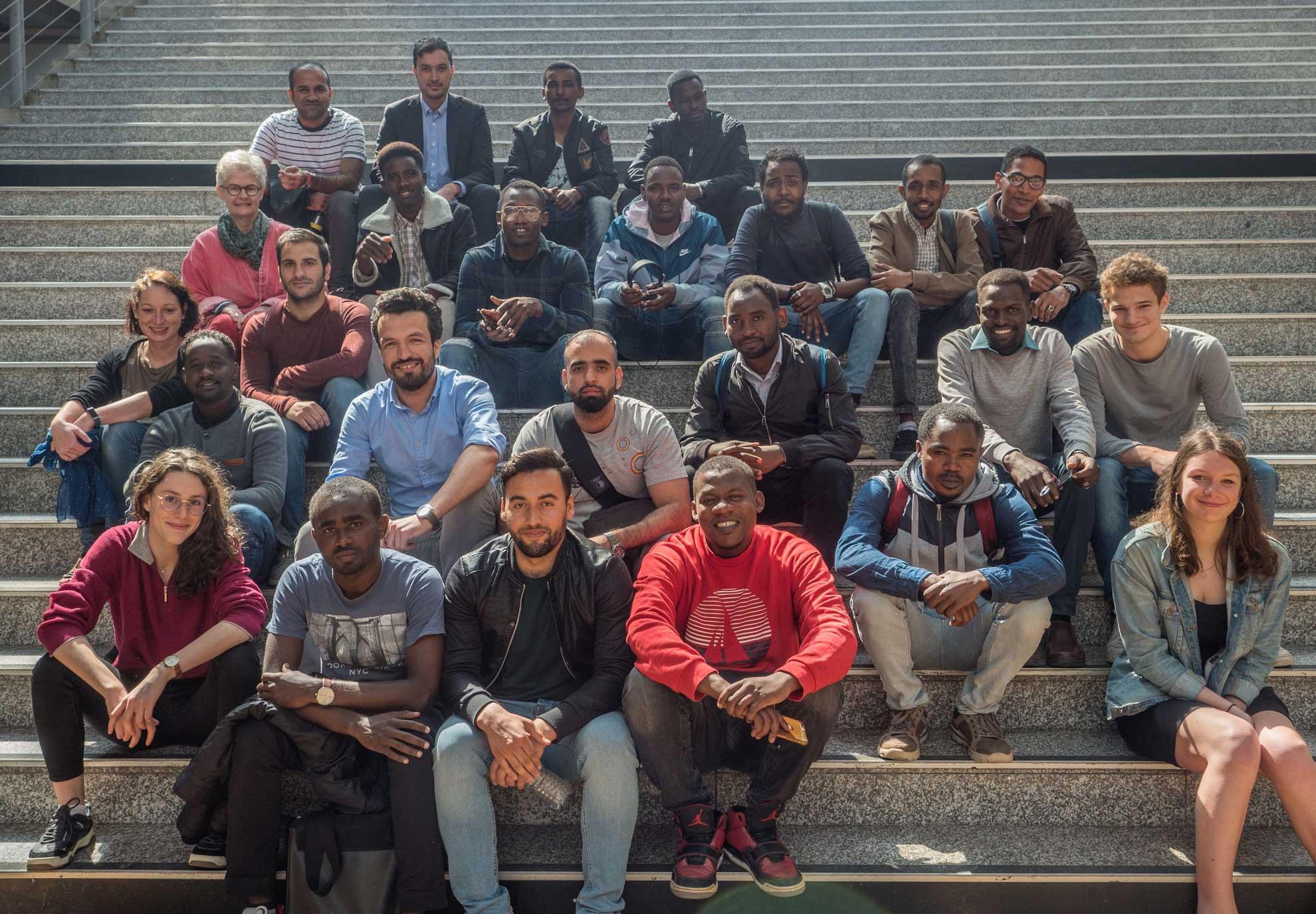 Étudiants réfugiés invités à l'École des Ponts
